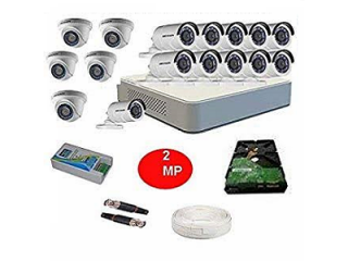 Hikvision 16nos 2 MP HD CCTV Camera Full Package