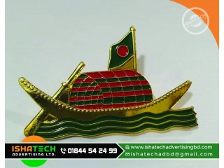 Golden Color Government Gift Item Boat flag, Map, Shaheed Minar, Memorial, Shapla Flowers and Wall, Table Desk in Bangladesh.