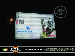 Project Sign Board Digital Pana PVC Project Sign Board with LED Lighting Project Sign Board