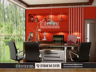 Office meeting room design, a bland conference room